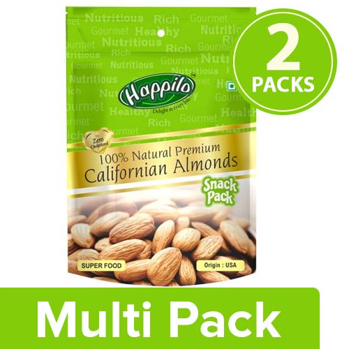 Happilo Premium Almonds - Californian, 100% Natural, 2x35 g Multipack