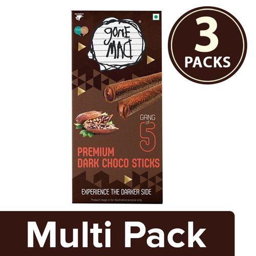 Gone mad Choco Stick - Dark, Premium, 5 Sticks, 3x100 g Multipack