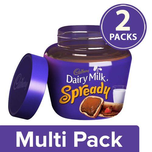 Cadbury Dairy Milk Spread - Milk Chocolate, 2x200 g Multipack
