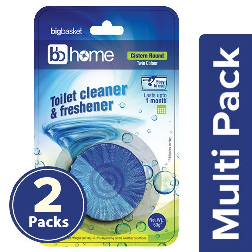 BB Home Toilet Cleaner Round Block, 2x50 g Multipack