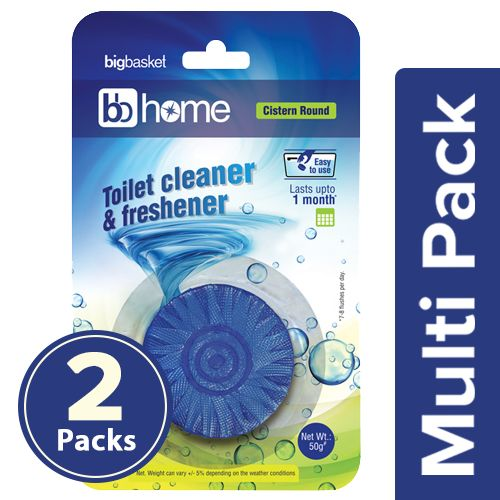 BB Home Toilet Cleaner Round Block - Twin Color, 2x50 g Multipack