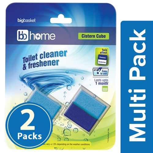 BB Home Toilet Cleaner Cistern Cube Block, 2x100 gm Multipack