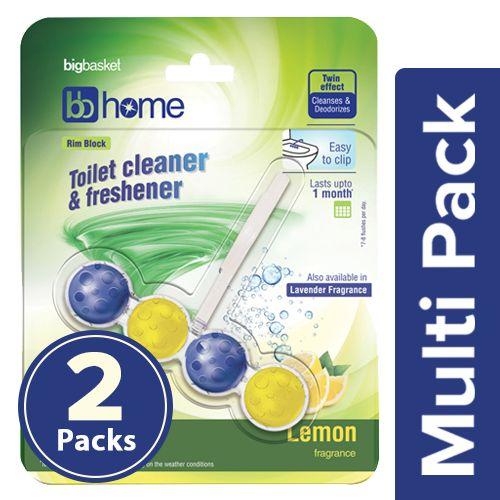 BB Home Toilet Cleaner & Freshner - Lemon, Pack of 4, 2x50 g Multipack