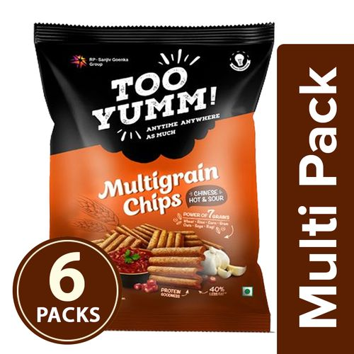 Too Yumm! Multigrain Chips - Chinese Hot & Sour, 6x54 g Multipack