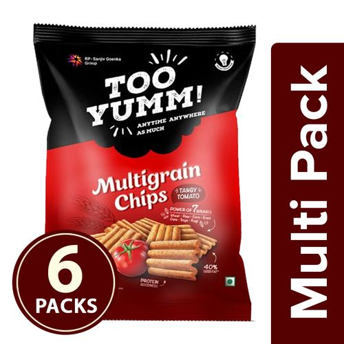 Too Yumm! Multigrain Chips - Tangy Tomato, 6x54 g Multipack