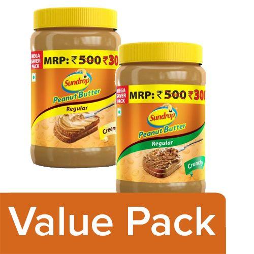 Sundrop Peanut Butter - Creamy 924G + Peanut Butter - Crunchy 924G, Combo 2 Items
