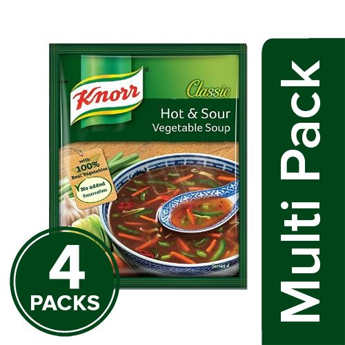 Knorr Chinese Hot & Sour Veg Soup, 4x43 g Multipack