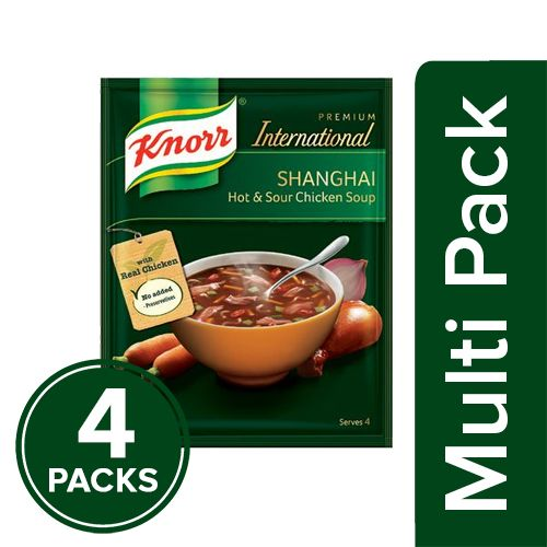 Knorr Chinese Hot & Sour Chicken Soup, 4x44 g Multipack