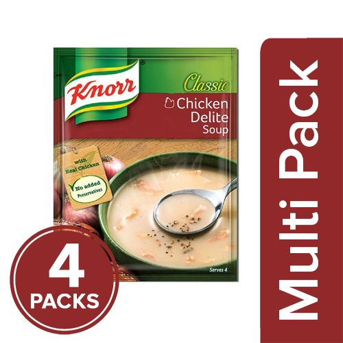 Knorr Classic Chicken Delite Soup, 4x44 g Multipack