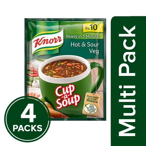 Knorr Cup-A-Soup - Hot & Sour Veg, 4x11 g Multipack