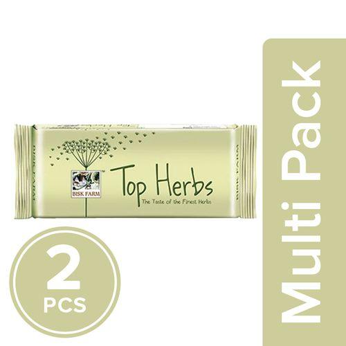 Bisk Farm Top Biscuits - Herbs, 2x200 g Multipack
