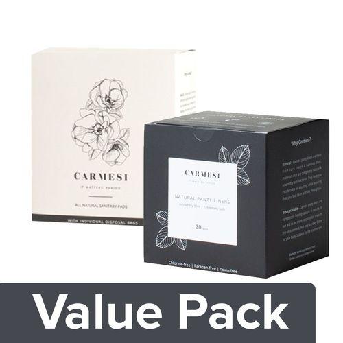 729c4f20d442 Buy Carmesi Sanitary Pads - All Natural, Regular 10 pcs + All Natural Panty  Liners 20 pcs Online at Best Price - bigbasket
