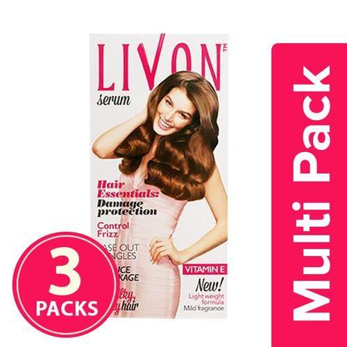 Livon Serum Hair Serum, 100 ml (Pack of 3)
