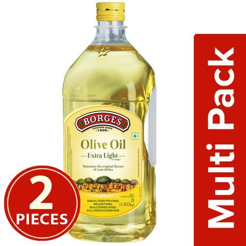 BORGES Olive Oil - Extra Light, 2x2 L Multipack