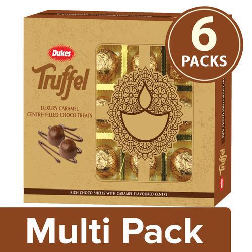 Dukes Truffel - Luxury Caramel, 6x135 g Multipack