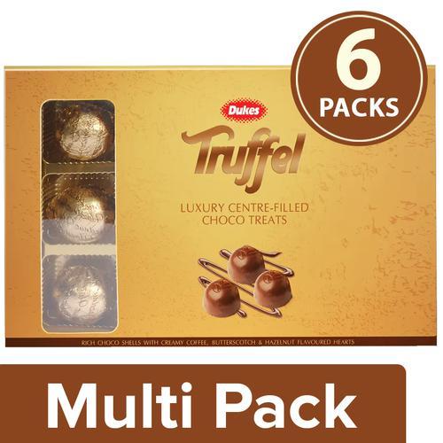 Dukes Truffel - Hazelnut, 6x135 g Multipack