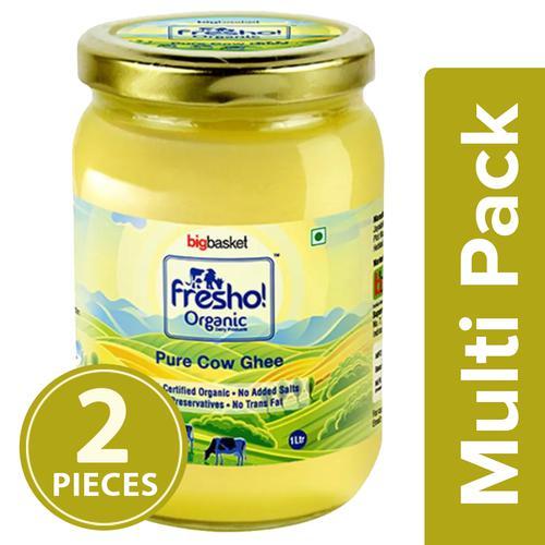 Fresho Organic Cow Desi Ghee/Tuppa, 2x1 L (Multipack)