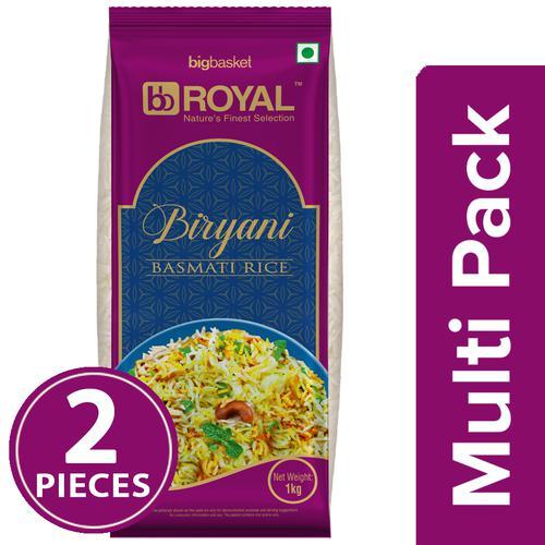 BB Royal Biryani Basmati Rice - Extra Long, 2x1 Kg Multipack