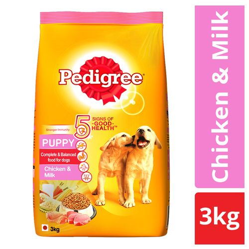 Pedigree Dry Dog Food - Chicken & Milk, For Puppy, 3 kg