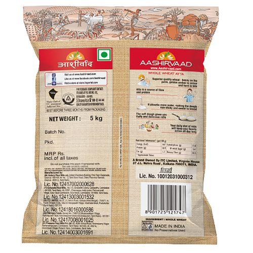 Aashirvaad Atta - Whole Wheat, 5 kg Pouch