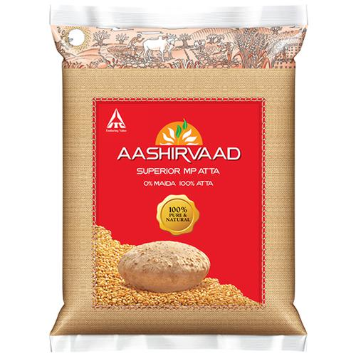 Aashirvaad Atta - Whole Wheat, 10 kg Pouch