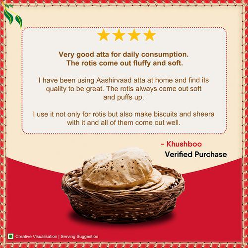 Aashirvaad Atta/Godihittu - Whole Wheat, 10 kg Pouch