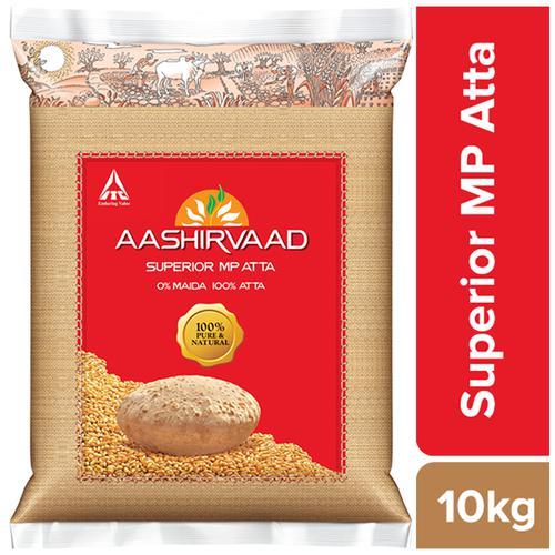 Aashirvaad Atta - Whole Wheat, 10 kg Pouch