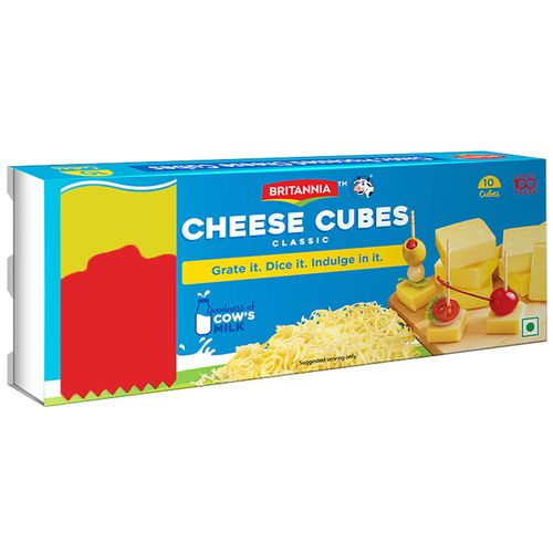 Britannia Cheese Cubes - Classic, 200 gm Carton