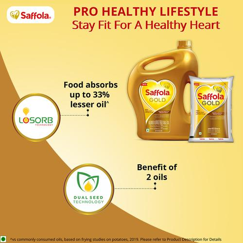 Saffola Gold - Pro Healthy Lifestyle Edible Oil, 2 L Jar