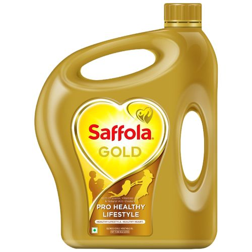 Saffola Gold - Pro Healthy Lifestyle Edible Oil, 5 L Jar