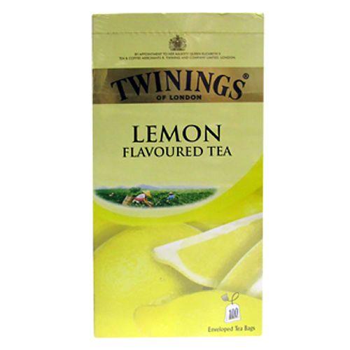 Twinings Flavoured Tea - Lemon, 100 Bags x 2 gm Each 200 gm