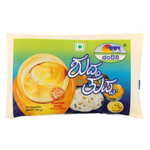Nandini Pure Ghee/Tuppa, 200 ml Pouch