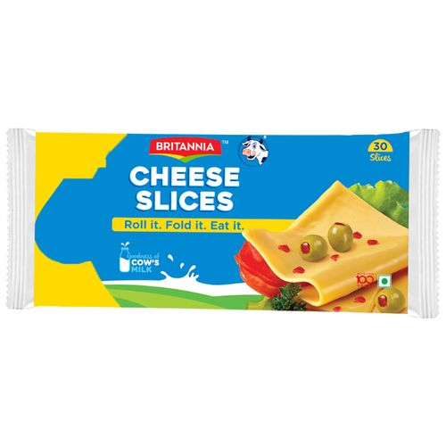 Britannia Cheese Slice - Processed Cheddar, 480 gm Pouch