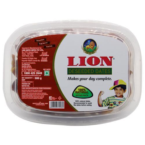 Lion Dates/Kharjura - Deseeded, 500 g Cup