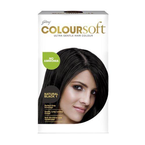 Godrej ColourSoft - Ultra Gentle Hair Colour, Natural Black 1, 80 ml + 24 gm Carton