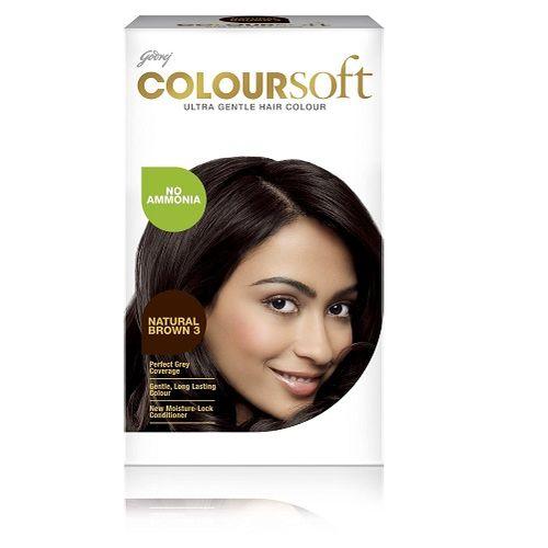 Godrej ColourSoft - Ultra Gentle Hair Colour, Natural Brown 3, 80 ml + 24 gm Carton