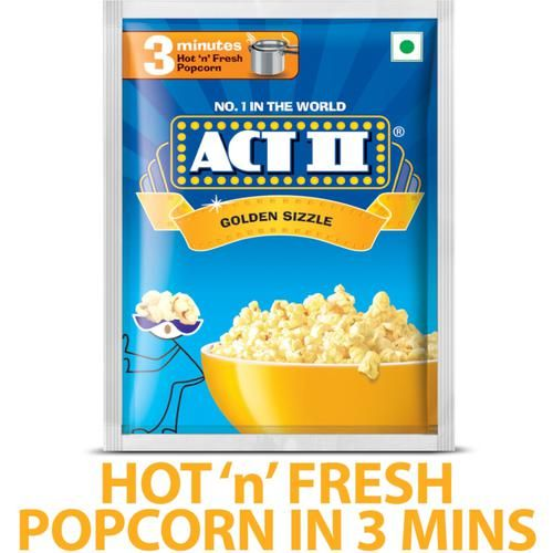 ACT II Instant Popcorn - Golden Sizzle, 40 g Pouch
