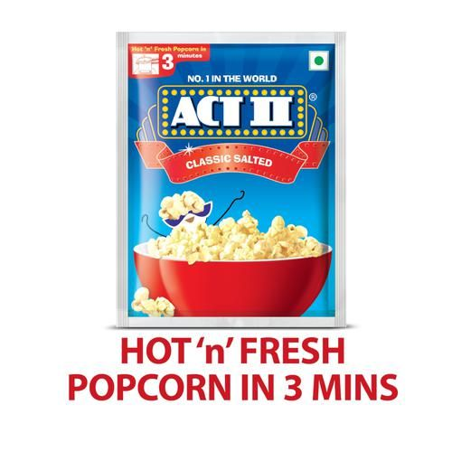 ACT II Instant Popcorn - Classic Salted, 30 + 10 gm Free Pouch