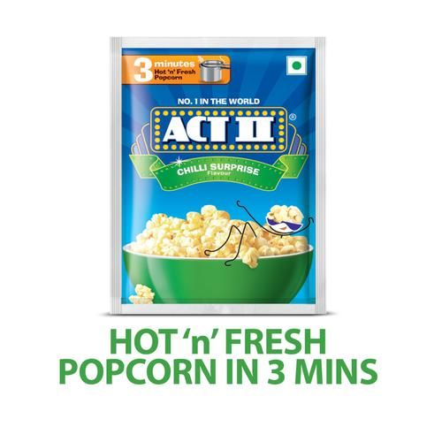 ACT II Instant Popcorn - Chilly Surprise, 30 + 10 gm Free Pouch
