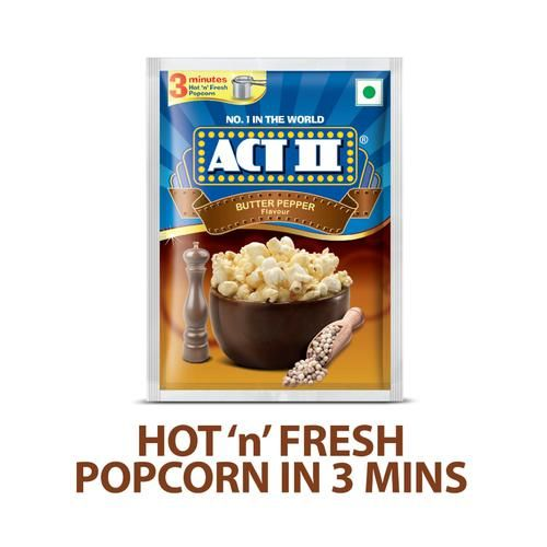 ACT II Instant Popcorn - Butter Pepper, 70 g Pouch