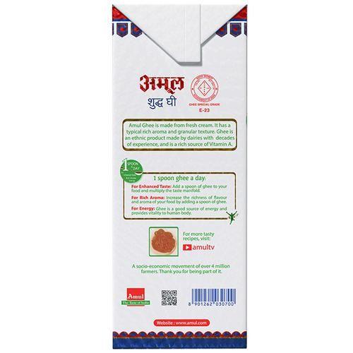 Amul Pure Ghee/Tuppa, 1 L Carton