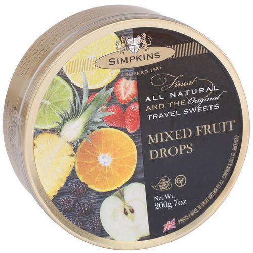 Simpkins  Travel Sweets - Mixed Fruit, 200 g Tin
