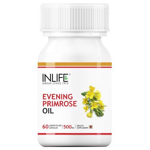 Inlife Evening Primrose Oil - Liquid Filled Capsules, 60 pcs Bottle
