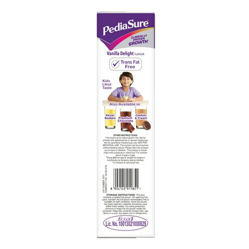 Pediasure Nutritional Powder - Complete & Balanced, Vanilla Delight, 400 g Carton