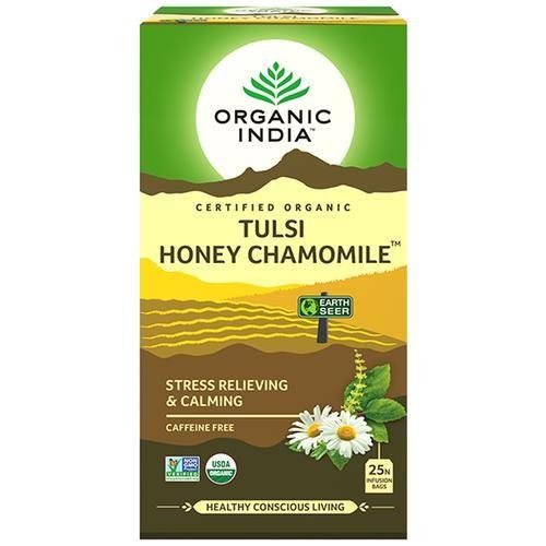 ORGANIC INDIA Chamomile Tea - Tulsi Honey, 25 Bags x 2 gm Each 50 gm