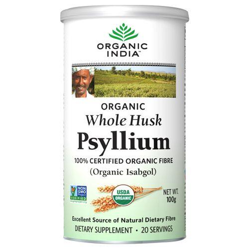 ORGANIC INDIA Psyllium Husk Powder, 100 g Tin