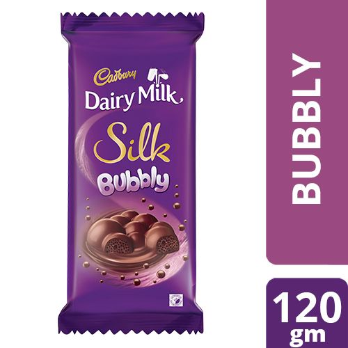 Cadbury Dairy Milk Silk Bubbly Chocolate Bar, 120 g