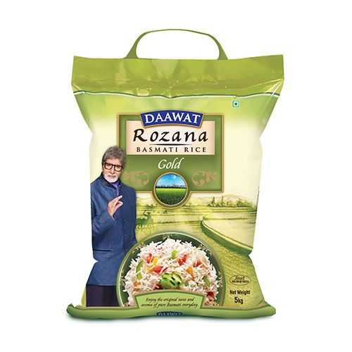 daawat basmati rice rozana 5 kg pouch buy online at