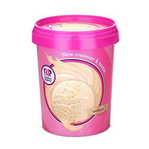 Baskin Robbins Ice Cream - Vanilla, 500 ml Tub