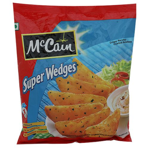 McCain Crispy Herb Coated Potatoes - Super Wedges, 400 g Pouch